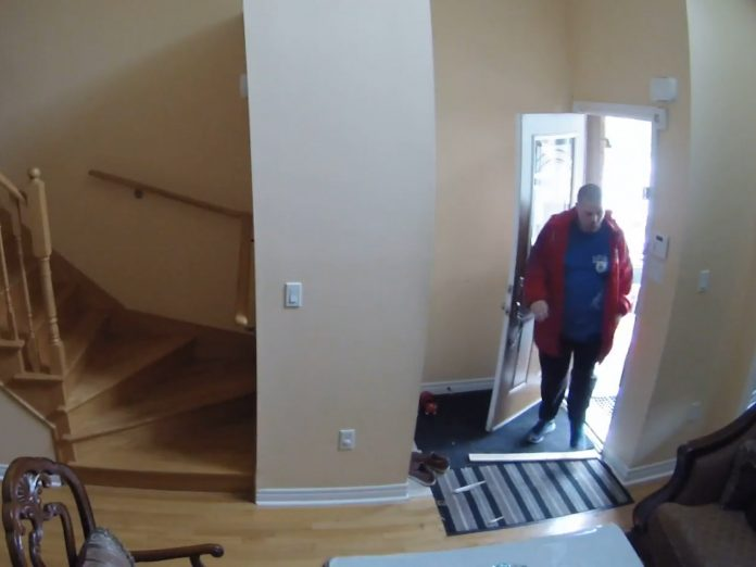 A still frame from security camera footage.