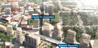 The new Ryerson University in Downtown Brampton.
