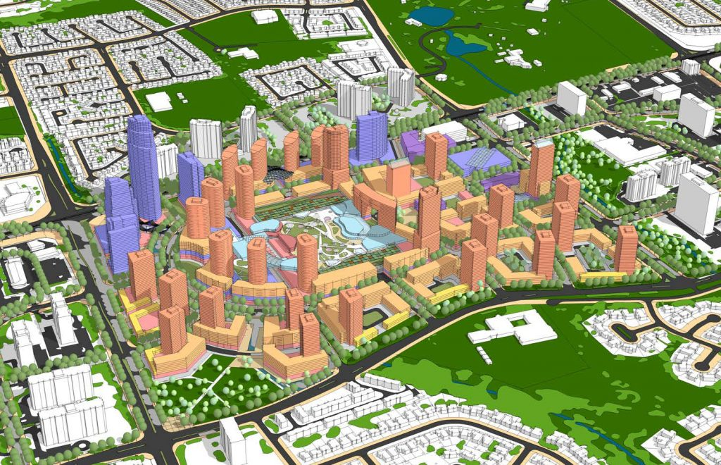 Vision for Bramalea, surrounding a redeveloped retail mall.
